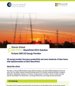 SharePoint Energy Case Study
