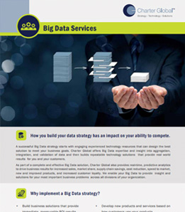 Charter Global builds Big Data business solutions