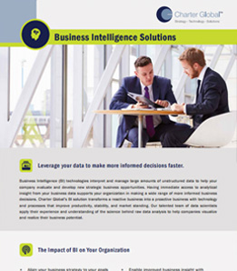 Charter Global Business Intelligence Solutions