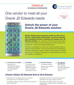 Oracle JD Edwards Focus